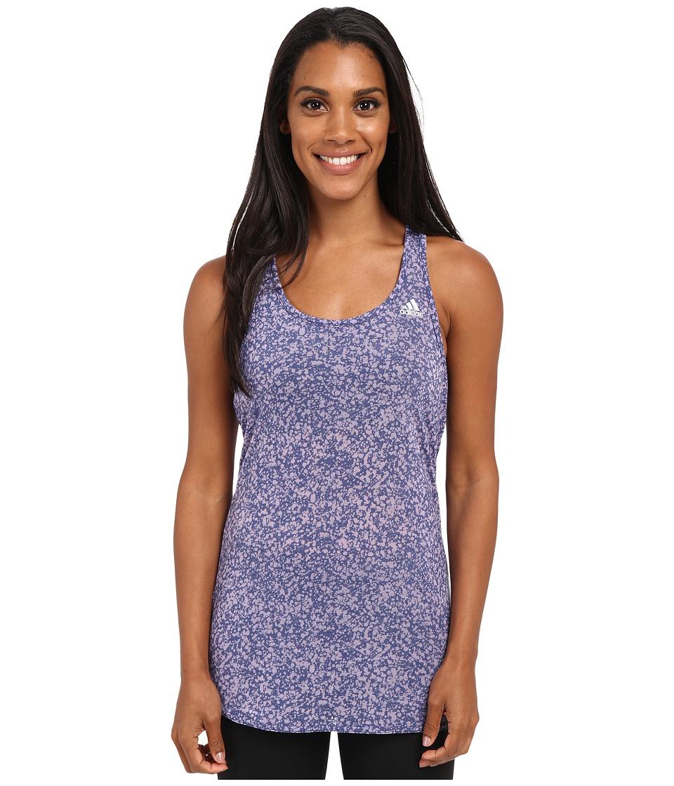 adidas - Fab Tank Top - Terazzo Burnout (Raw Purple/Purple Glow/Matte Silver) Women's Sleeveless