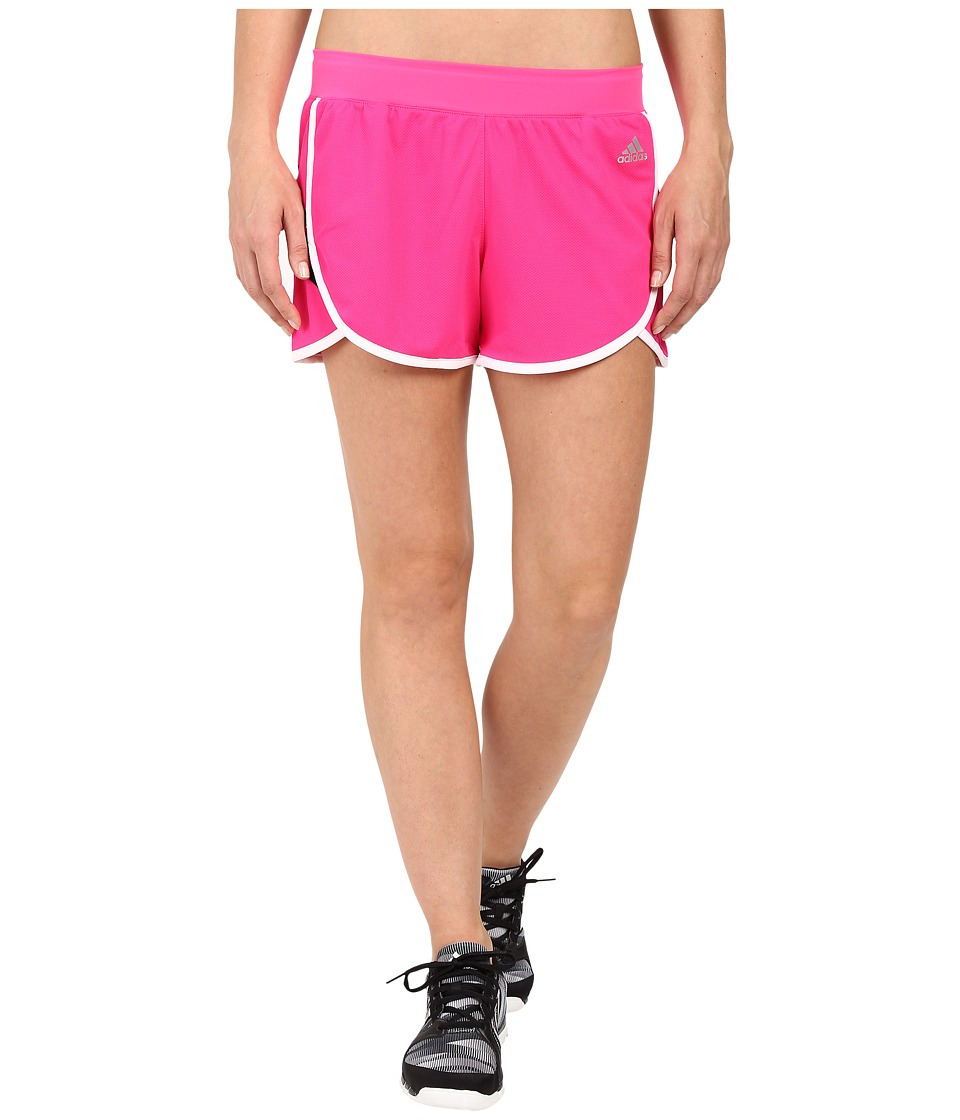 adidas - Ultimate Knit Shorts (Shock Pink/White/Black/Matte Silver) Women's Shorts