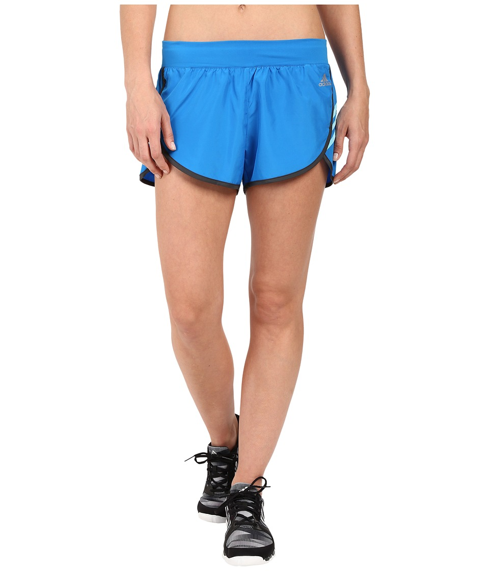 adidas - Ultimate Woven Shorts (Shock Blue/Dark Grey Heather Solid Grey/Blue Glow/Matte Silver) Women's Shorts