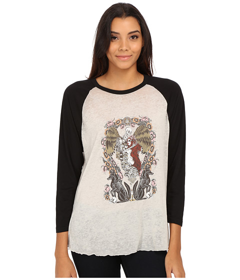 Obey - Sleep Raglan (Creme/Black) Women