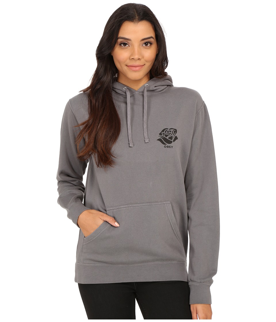 Obey - Day of the Dead Hoodie (Charcoal) Women's Sweatshirt