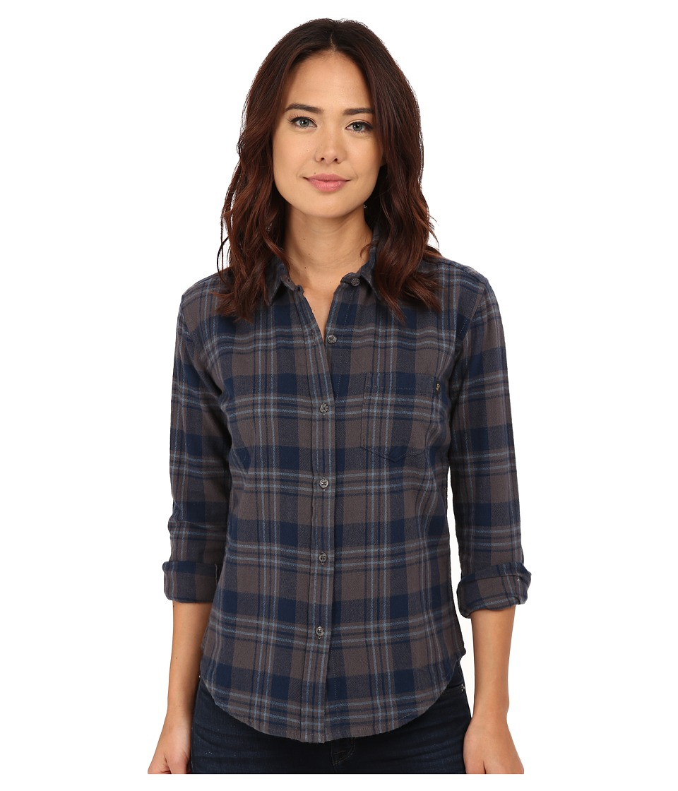 Obey - June Lake Button Down (Charcoal Multi) Women's Long Sleeve Button Up