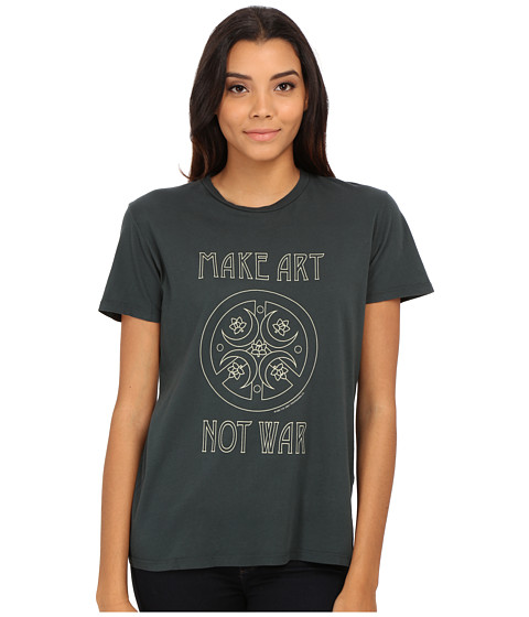 Obey - Make Art Not War Tee (Emerald) Women's T Shirt