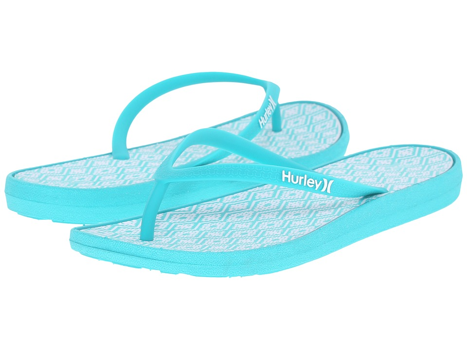 Hurley - One Only Printed Sandal (Hyper Jade) Women's Sandals