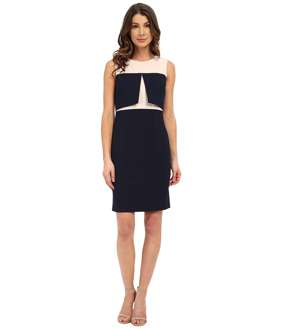 Donna Morgan - Sleeveless Crepe Bodycon Dress (Midnight/Glaze) Women