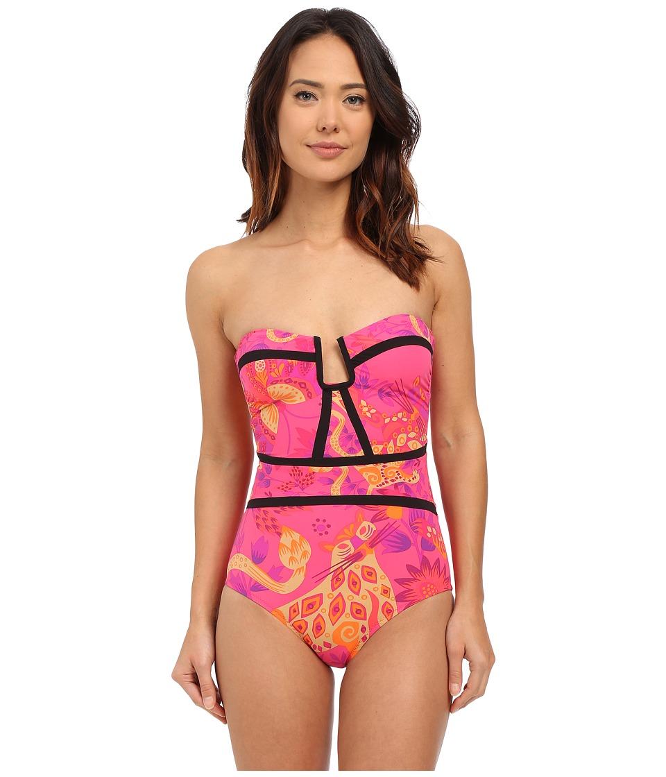 Nanette Lepore - Jakarta Jaguar Seductress Reversible One-Piece (Raspberry) Women's Swimsuits One Piece