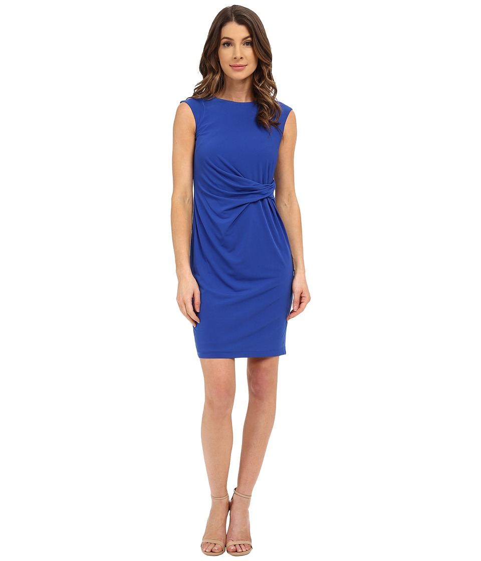 Donna Morgan - Short Sleeve Rouched Side Jersey Dress (Iceberg) Women's Dress