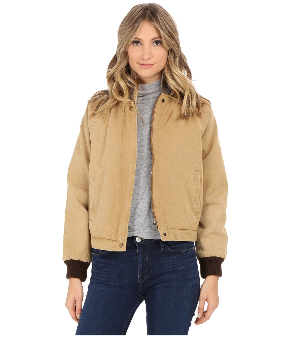Obey - Fort Dodge Jacket (Bone Brown) Women's Coat