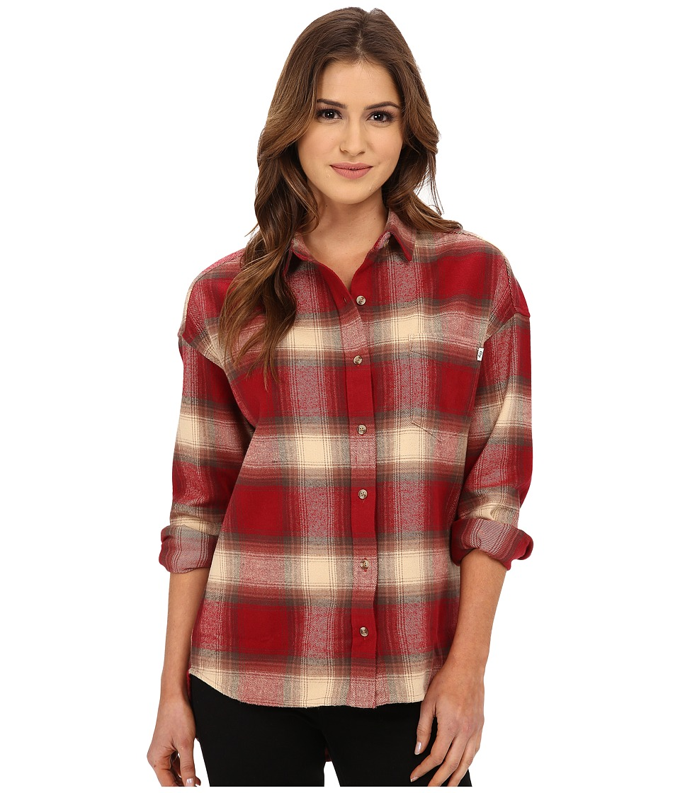 Obey - Garnet Peak Button Down (Red Multi) Women's Long Sleeve Button Up