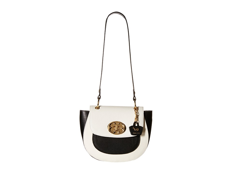Emma Fox - Bayboro Flap (White/Black) Handbags