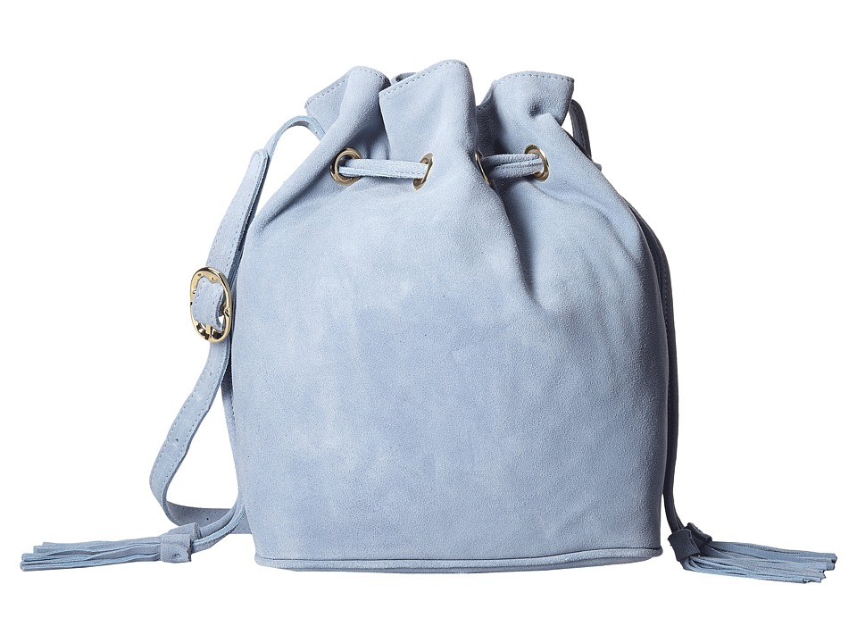 Emma Fox - Chatham Bucket Suede (Baby Blue) Shoulder Handbags