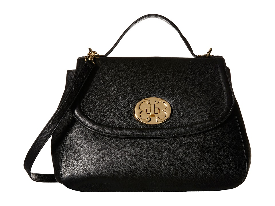 Emma Fox - New Classics Top Handle Leather (Black) Top-handle Handbags