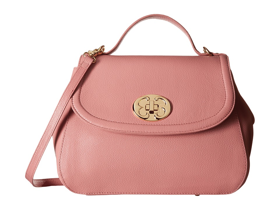 Emma Fox - New Classics Top Handle Leather (Rose) Top-handle Handbags
