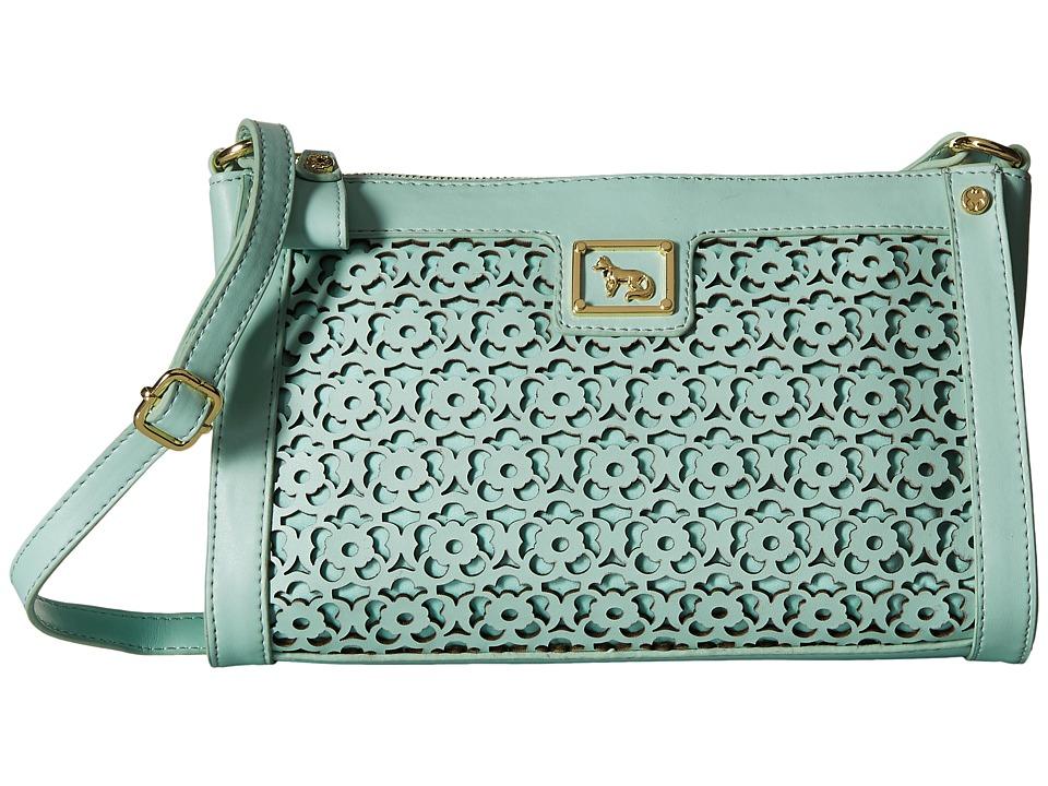 Emma Fox - Forsyth East/West Crossbody (Pale Aqua) Cross Body Handbags