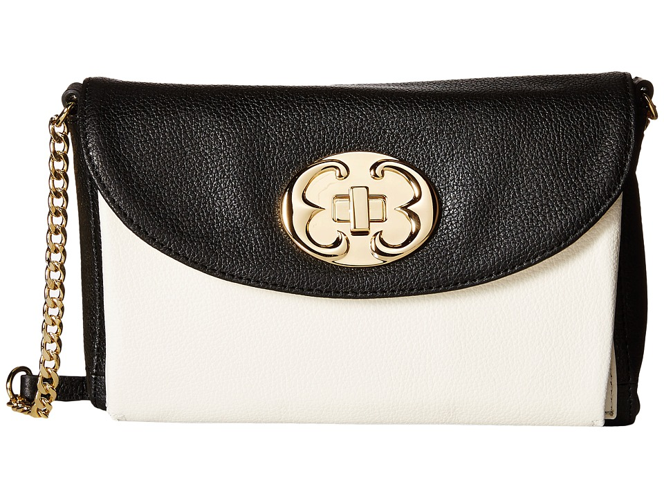 Emma Fox - New Classics Clutch Crossbody (Black/White) Cross Body Handbags