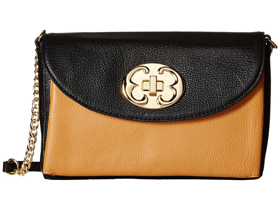 Emma Fox - New Classics Clutch Crossbody (Black/Camel) Cross Body Handbags