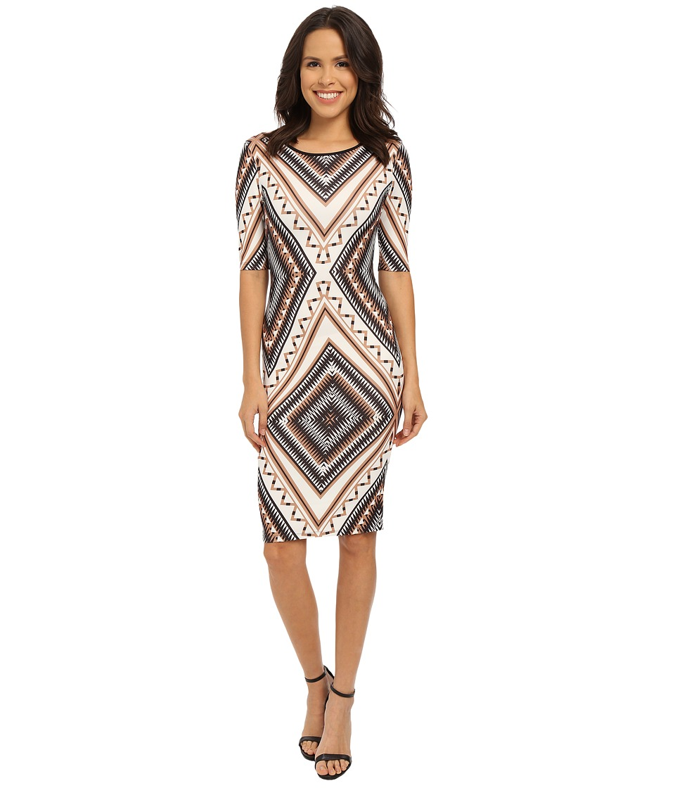 XOXO - Like A Diamond Dress (Black/Taupe) Women's Dress