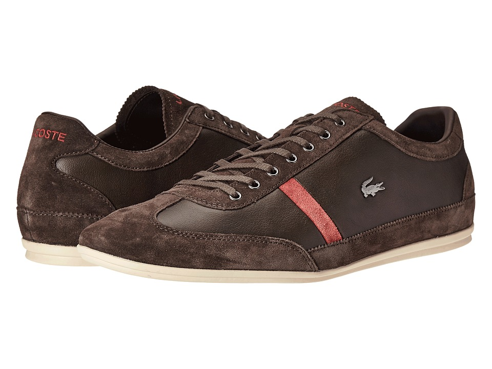 Lacoste - Misano 22 LCR (Dark Brown) Men's Shoes