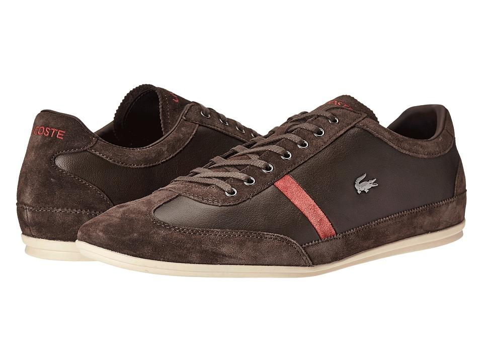 Lacoste - Misano 22 LCR (Dark Brown) Men's Shoes