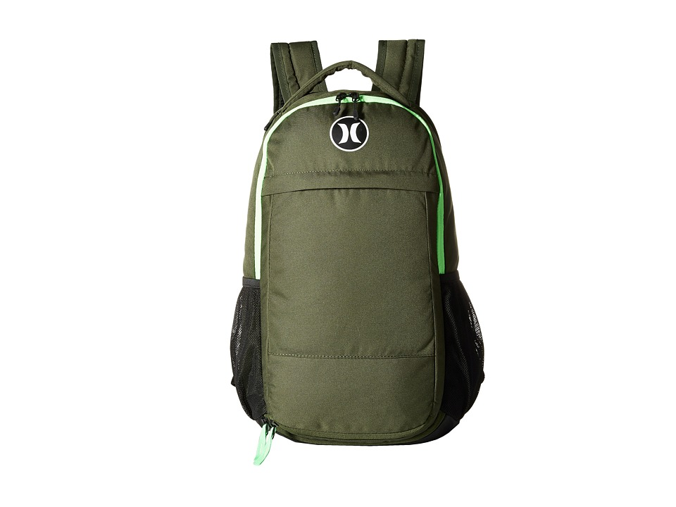 Hurley - Fusion Backpack (Green/Voltage Green/White) Backpack Bags