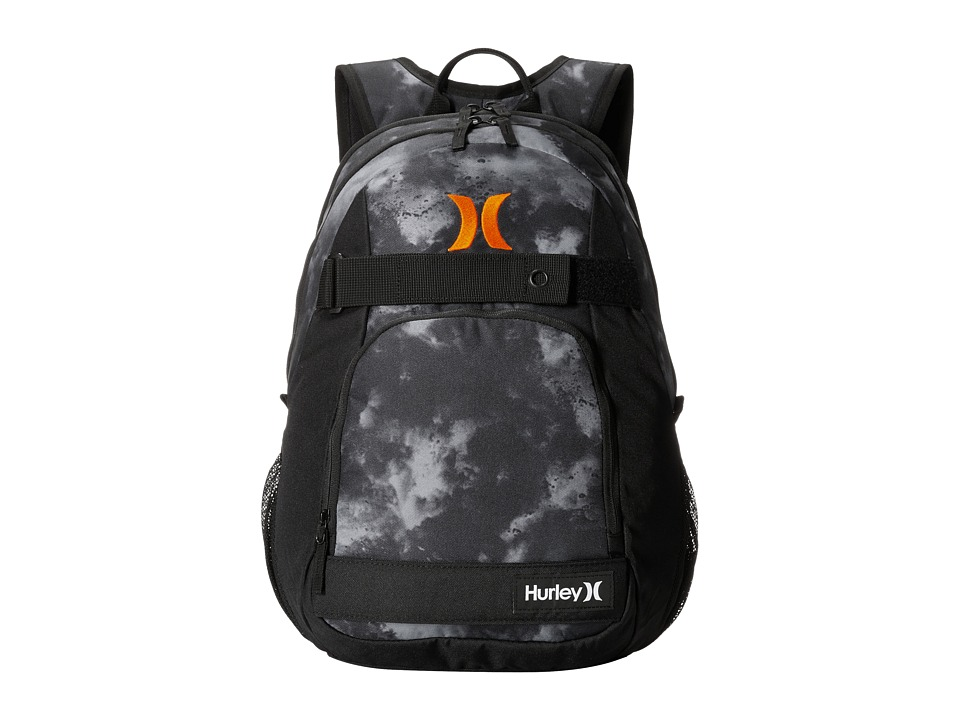 Hurley - Honor Roll Backpack (Black/Black/Total Orange) Backpack Bags