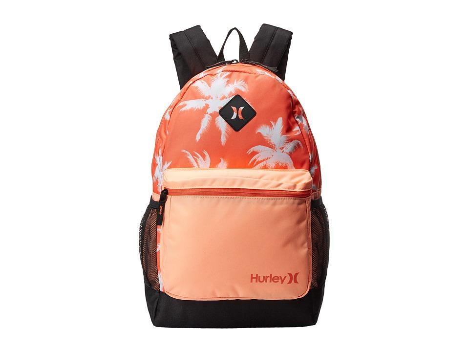 Hurley - Mater Printed Backpack (Hyper Orange/Sunset Glow/Light Wild Mango) Backpack Bags