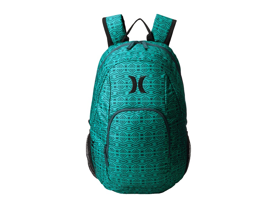 Hurley - One and Only Printed Backpack (Radiant Emerald/Squadron Blue/Black) Backpack Bags