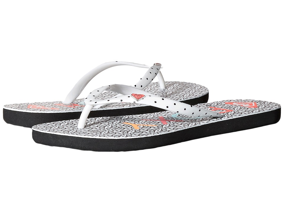 Roxy - Mimosa (Black/White Stencil) Women's Sandals