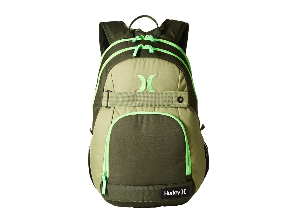 Hurley - Honor Roll Solid Blocked (Carbon Green/Alligator/Voltage Green) Backpack Bags