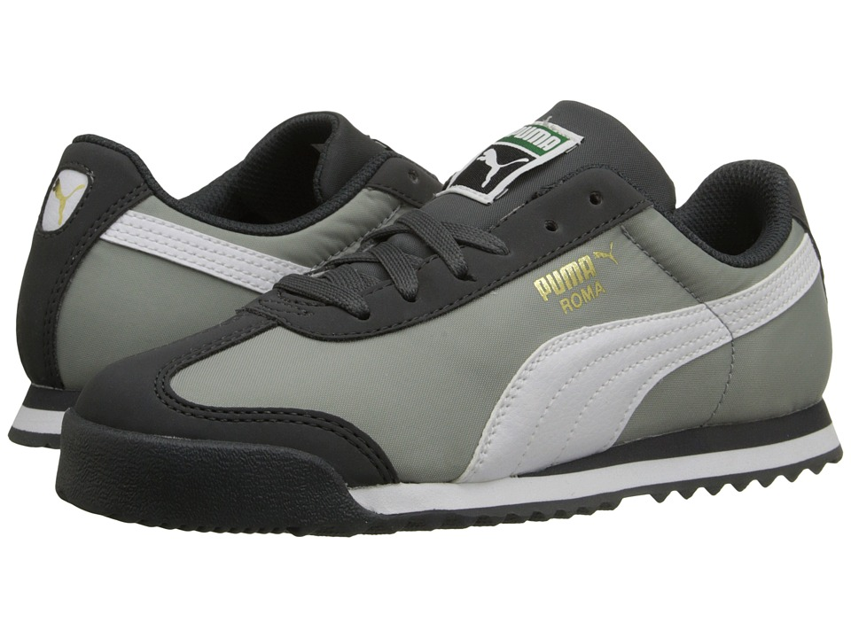 Puma Kids - Roma Basic Summer (Little Kid/Big Kid) (Dark Shadow/White) Boys Shoes