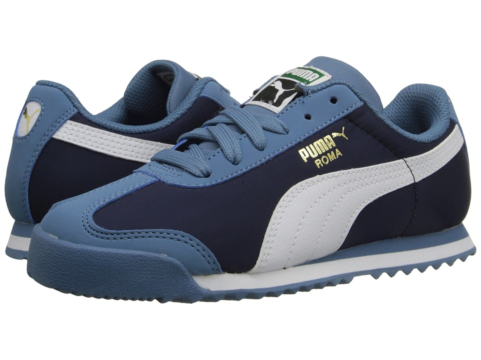 Puma Kids - Roma Basic Summer (Little Kid/Big Kid) (Blue Heaven/White) Boys Shoes