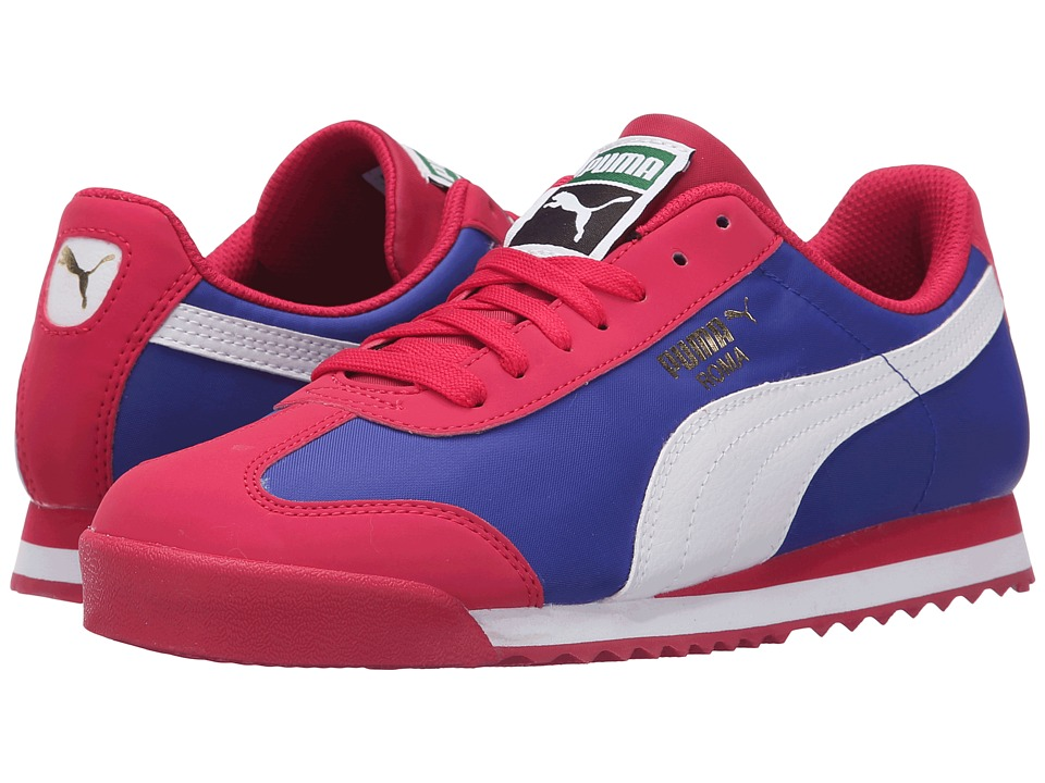 Puma Kids - Roma Basic Summer (Little Kid/Big Kid) (Rose Red/White) Girls Shoes