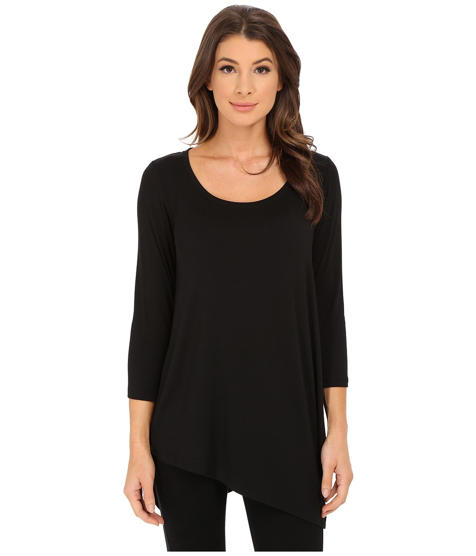 NYDJ - City/Sport Leah Basic 3/4 Sleeve Tee (Black 1) Women's T Shirt