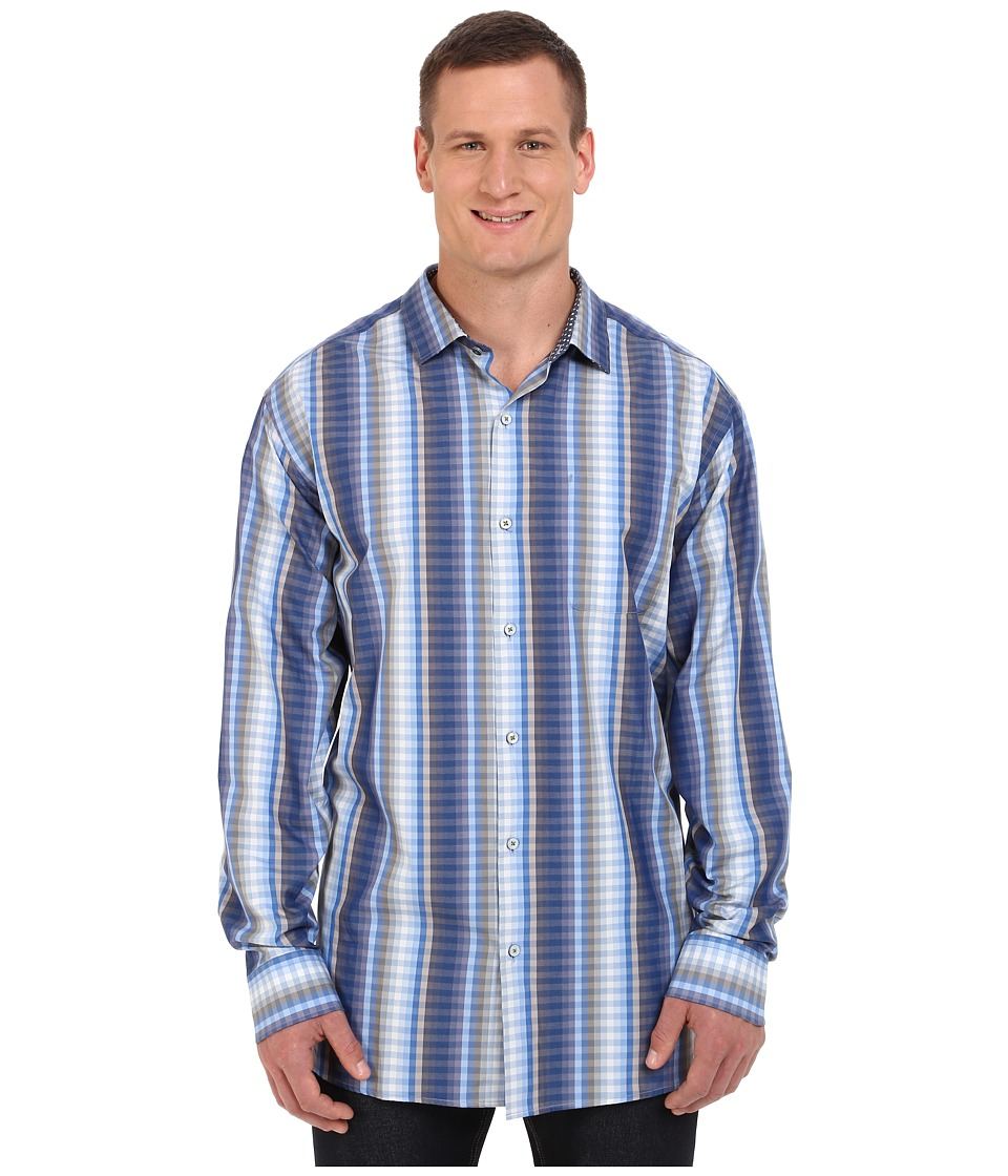 Tommy Bahama Big & Tall - Big Tall Surf To Sydney Check (Surf Blue) Men's Clothing