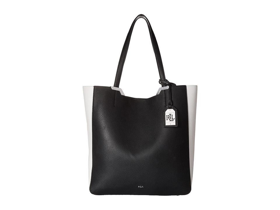 LAUREN Ralph Lauren - Acadia Tote (Black/Vanilla) Tote Handbags