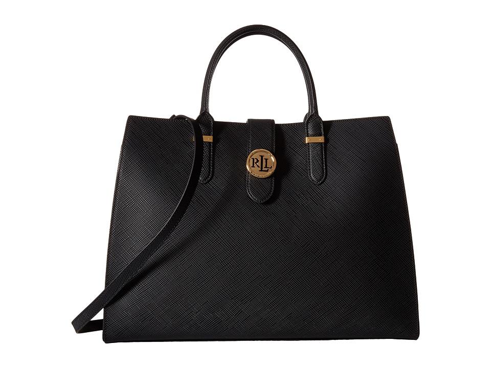LAUREN Ralph Lauren - Charleston Tote (Black) Tote Handbags