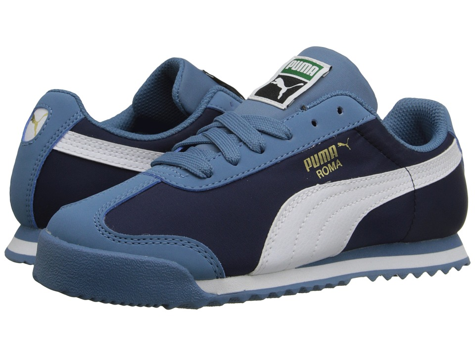 Puma Kids - Roma Basic Summer (Toddler/Little Kid/Big Kid) (Blue Heaven/White) Boys Shoes