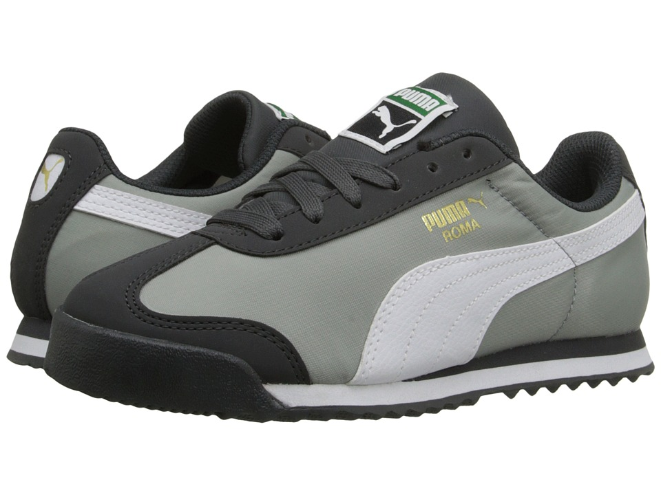 Puma Kids Roma Basic Summer (Toddler/Little Kid/Big Kid) (Dark Shadow/White) Boys Shoes