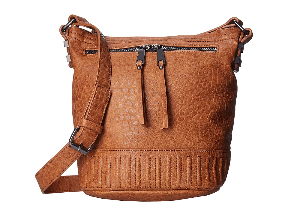 French Connection - Kim Bucket Hobo (Nutmeg Bubble PU) Cross Body Handbags