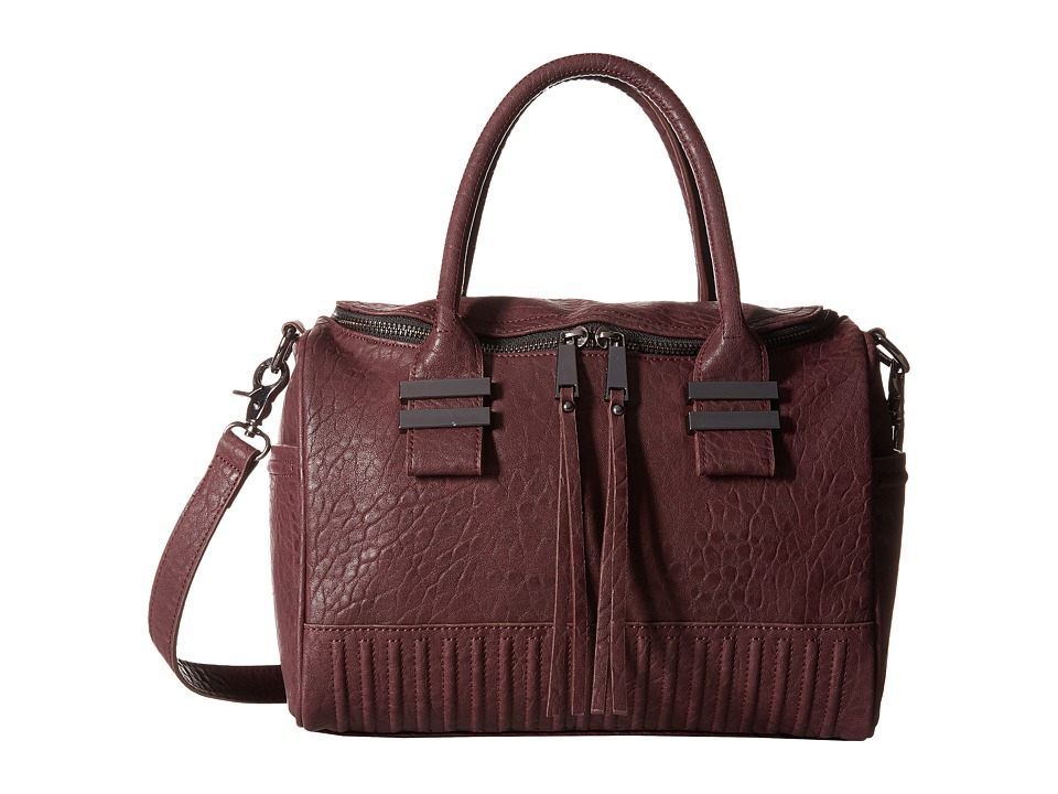 French Connection - Kim Large Satchel (Biker Berry Bubble PU) Satchel Handbags