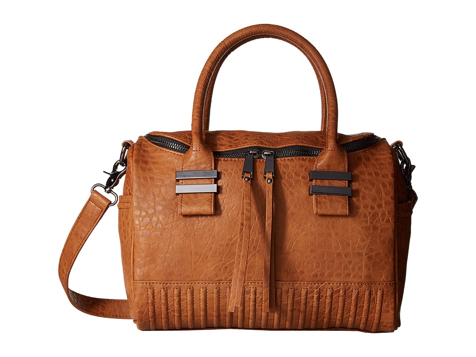 French Connection - Kim Large Satchel (Nutmeg Bubble PU) Satchel Handbags