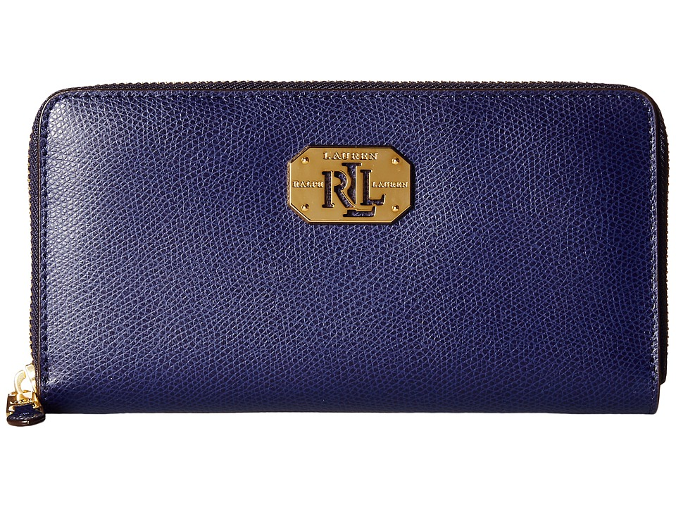LAUREN Ralph Lauren - Whitby Zip Wallet (Marine) Checkbook Wallet