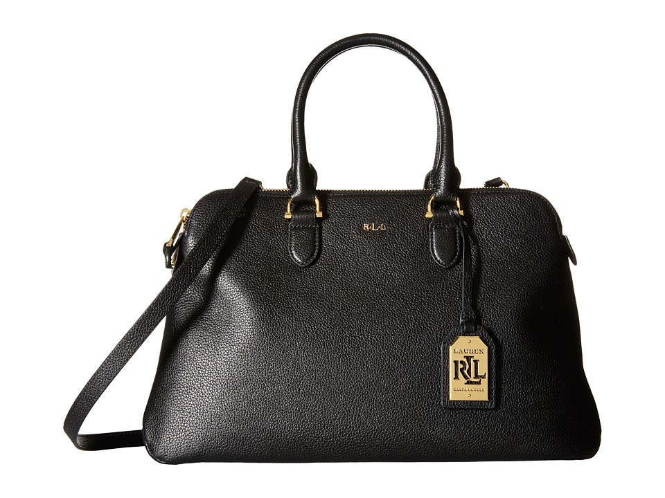 LAUREN Ralph Lauren - Harrington Double Zip Dome (Black) Handbags