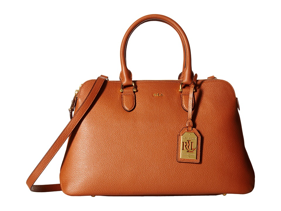 LAUREN Ralph Lauren - Harrington Double Zip Dome (Lauren Tan) Handbags