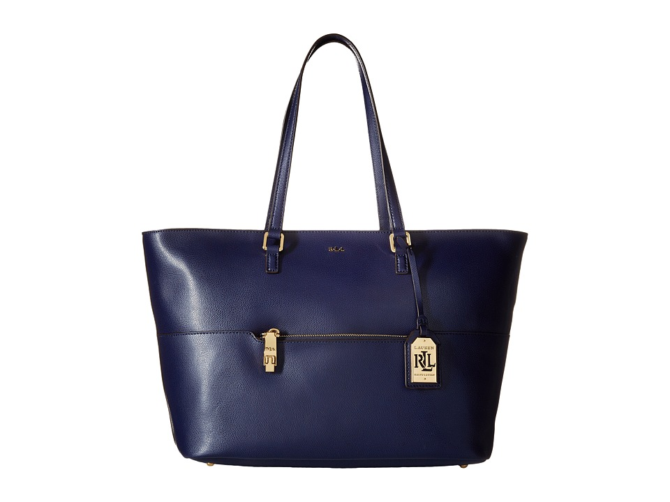 LAUREN Ralph Lauren - Whitby Pocket Tote (Marine) Tote Handbags