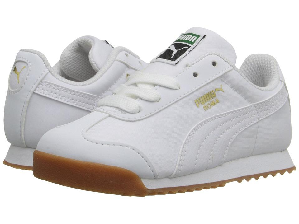 Puma Kids - Roma Basic Summer (Toddler/Little Kid/Big Kid) (White/White) Kids Shoes