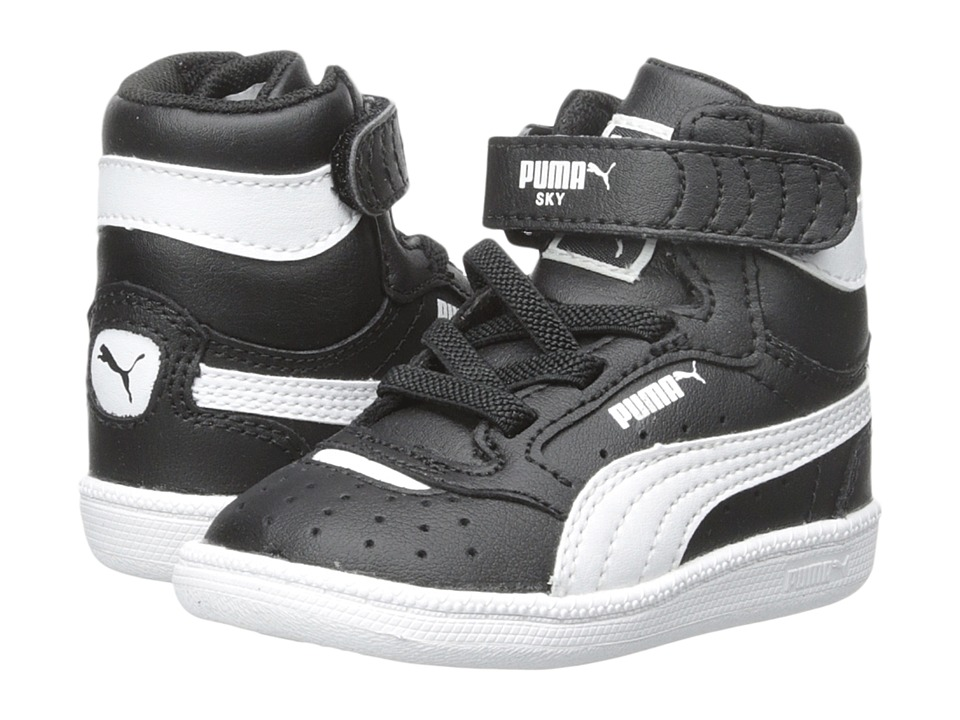 Puma Kids - Sky II Hi (Toddler/Little Kid/Big Kid) (Black/White) Boys Shoes