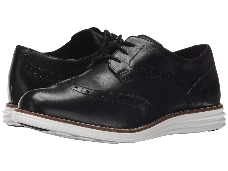 Cole Haan - Original Grand Wingtip (Black/Optic White) Women's Lace Up Wing Tip Shoes