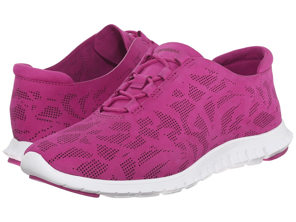 Cole Haan - Zerogrand Perf Trainer (Fuchsia Red Perf Nubuck/Optic White) Women's Shoes