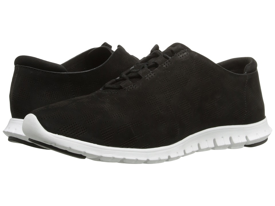 Cole Haan - Zerogrand Perf Trainer (Black Perf Nubuck/Optic White) Women's Shoes